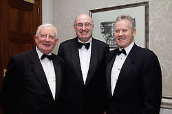 23/10/2015<br /> 10/23/2015<br /> 23 October 2015<br />  Guild of Agricultural Journalists &ndash; Michael Dillon Lecture at the Shelbourne Hotel, Dublin. For Farmer's Journal. <br /> At the event were (l-r): Frank Hayes;  Phil Hogan, European Commissioner for Agriculture and Rural Development and Stan McCarthy, Kerry Group CEO.
