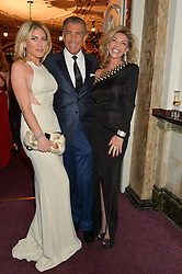 Left to right, HOFIT GOLAN, STEVE VARSANO and LISA TCHENGUIZ at The Backstage Gala hosted by Diana Vishneva , Principal Dancer of the Mariinsky and American Ballet Theatre, and Natalia Vodianova in aid of The Naked Heart Foundation held at The London Coliseum, St.Martin's Lane, London on 17th April 2015.