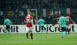 23.11.2011, Giuseppe Meazza Stadion, Mailand, ITA, UEFA CL, Gruppe H, AC Mailand (ITA) vs FC Barcelona (ESP), im Bild Il gol di Kevin Prince BOATENG (Milan) goal celebration // during the football match of UEFA Champions league, group H, between Gruppe H, AC Mailand (ITA) and FC Barcelona (ESP) at Giuseppe Meazza Stadium, Milan, Italy on 2011/11/23. EXPA Pictures © 2011, PhotoCredit: EXPA/ Insidefoto/ Alessandro Sabattini..***** ATTENTION - for AUT, SLO, CRO, SRB, SUI and SWE only *****