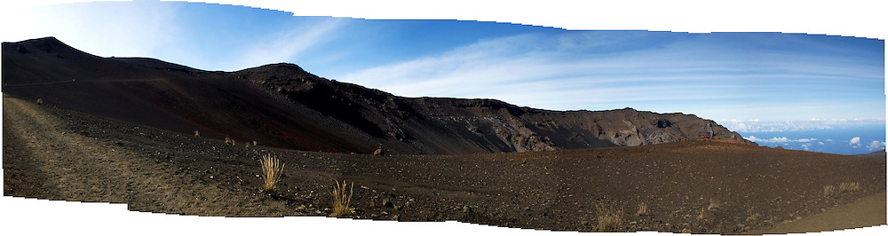 Multi-image panorama from Hawaii, Trail inside Haleakala