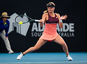 Dayana Yastremska of the Ukraine in action during the quarter-finals at the 2020 Adelaide International WTA Premier tennis tournament against Donna Vekic of Croatia. Photo Rob Prange / Spain ProSportsImages / DPPI / ProSportsImages / DPPI