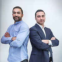 Nederland, Amsterdam, 3 februari 2016.<br /> Zabih (r) en Agil Etemadi.<br /> Beide profvoetballers maar Zabih is tegenwoordig ook sport advocaat.<br /> <br /> Foto:Jean-Pierre Jans<br /> <br /> <br /> <br /> Foto: Jean-Pierre Jans
