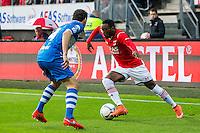 ALKMAAR - 16-04-2016, AZ - PEC Zwolle, AFAS Stadion, 5-1,  PEC Zwolle speler Dirk Marcellis , AZ speler Ridgeciano Haps