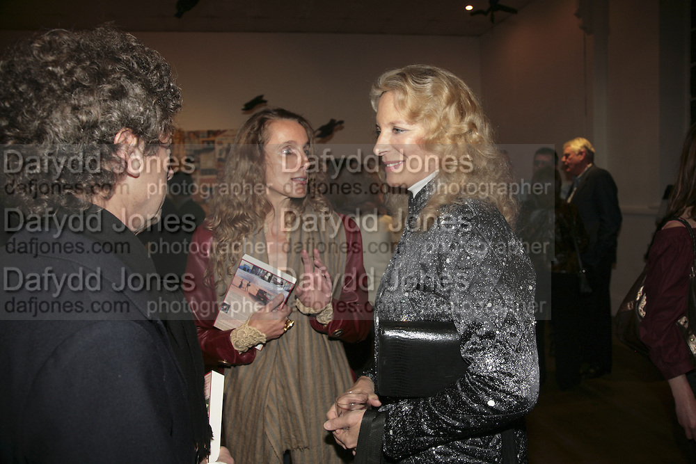 Count Adam Zamoyski, Emma Sergeant and Princess Michael of Kent. Misadventure In the Middle East. Travels As a Tramp, Artist and Spy by Henry Hemming. Book launch and exhibition. Paradise Row. London. E2.  -DO NOT ARCHIVE-© Copyright Photograph by Dafydd Jones. 248 Clapham Rd. London SW9 0PZ. Tel 0207 820 0771. www.dafjones.com.