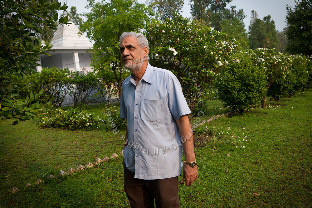 M. C. Mehta, the famous Indian environmental lawyer, is standing in his ashram in Dehradun, a hill station in the northern state of Uttarakhand.