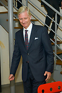 King Philippe during visit of the Home Baudouin for homeless