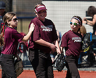 Chester, New York - Teams compete in the It's Show Time girls' softball tournament at The Rock Sports Complex on April 12, 2015.