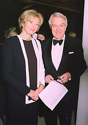 SIR NICHOLAS & LADY SCOTT at a dinner in London on 16th January 1998.<br /> MEP 14