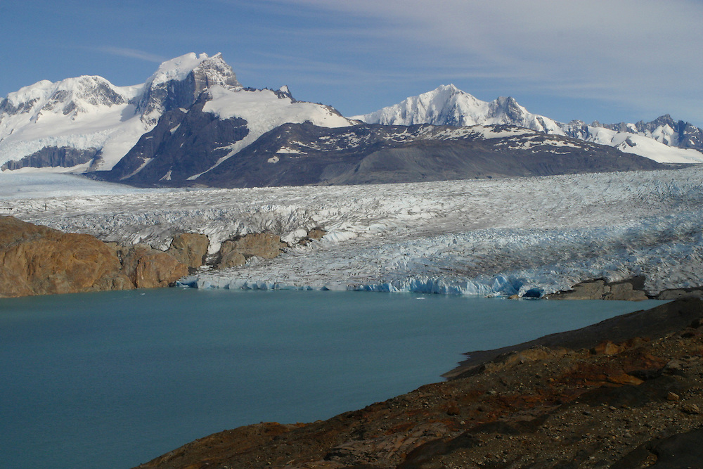 The Upsala Glacier descends from t he Southern Patagonian Icefield into Argentina, as seen on Jan. 18, 2004. Daniel Beltra/Greenpeace.