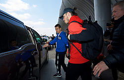 NANNING, CHINA - Tuesday, March 20, 2018: Wales' Gareth Bale arrives at Nanning International Airport for the 2018 Gree China Cup International Football Championship. (Pic by David Rawcliffe/Propaganda)
