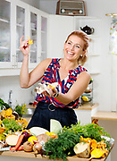 Swedish chef Tina Nordstr&ouml;m from a campaign 2017.<br /> Photo by Ola Torkelsson<br /> Copyright Ola Torkelsson &copy;