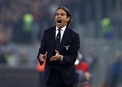 March 2, 2019 - Rome, Lazio, Italy - SS Lazio v As Roma : Serie A.Simone Inzaghi trainer of Lazio at Olimpico Stadium in Rome, Italy on March 2, 2019. (Credit Image: © Matteo Ciambelli/NurPhoto via ZUMA Press)
