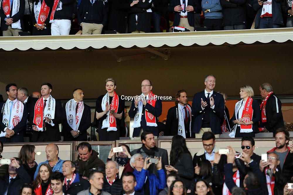 Photo LaPresse - Valerio Andreani<br /> 03 May 2017 City Monaco<br /> Sport Soccer<br /> Monaco-Juventus<br /> Semi-finals Champions League 2016/2017 - &quot;Louis II&quot; Stadium<br /> in the pic: ranieri alberto di monaco