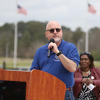VA Medical Center Director, Dr. David Walker spoke the attendees Saturday at Veteran Park for the Operation Grateful Nation event