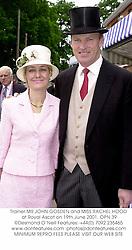 Trainer MR JOHN GOSDEN and MISS RACHEL HOOD at Royal Ascot on 19th June 2001. OPN 39