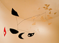 Washington DC. Mobiles in Calder Collection of National Gallery.