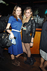 Left to right, MARIE-CLAIRE ROGERSON and ALICE DELLAL at a party hosted by Belvedere Vodka and Jade Jagger to launch The Belvedere Jagger Dagger cocktail held at Automat, Berkeley Street, London on 8th May 2008.<br /><br />NON EXCLUSIVE - WORLD RIGHTS ******(EMBARGOED FOR PUBLICATION IN UK MAGAZINES UNTIL 2 MONTHS AFTER CREATE DATE AND TIME)****** www.donfeatures.com  +44 (0) 7092 235465