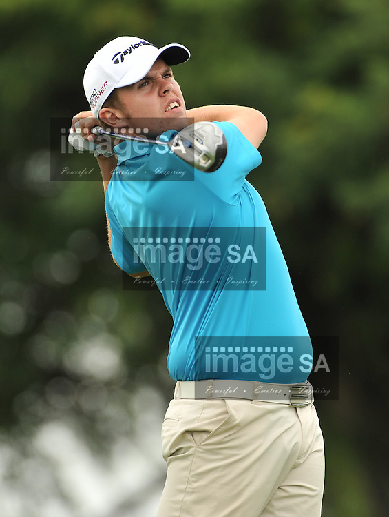 MALELANE, SOUTH AFRICA - Wednesday 18 February 2015,  during the first round foursomes of the annual Leopard Trophy, a two day test between teams of the South African Golf Association and the Scottish Golf Union, at the Leopard Creek Golf Estate.<br /> Photo Roger Sedres/ Image SA