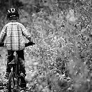 Micah Goodrich (age 6) rides the Singletrack of Teton Pass near Wilson, Wyoming.