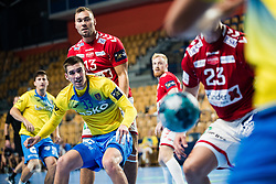 Tadej Kljun of RK Celje Pivovarna Lasko during handball match between RK Celje Pivovarna Lasko (SLO) and Aalborg Handbold (DEN) in Group Phase B of EHF Champions League 2020/21, on 16 September, 2020 in Arena Zlatorog, Celje, Slovenia. Photo by Grega Valancic / Sportida