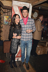 DUNCAN & ZOE STIRLING at a party to celebrate the opening of Beaver Lodge, a new bar & club from the Inception Group at 266 Fulham Road, London SW10 on 4th December 2014.