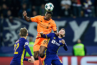 MARIBOR, SLOVENIA - OCTOBER 17: Gerginio Winjaldum of Liverpool FC vs Dino Hotic of NK Maribor during UEFA Champions League 2017/18 group E match between NK Maribor and Liverpool FC at Stadium Ljudski vrt, on October 17, 2017 in Maribor, Slovenia. (Photo by Vid Ponikvar / Sportida)