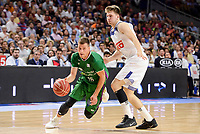 Real Madrid's Luka Doncic and Unicaja Malaga's Nemanja Nedovic during semi finals of playoff Liga Endesa match between Real Madrid and Unicaja Malaga at Wizink Center in Madrid, May 31, 2017. Spain.<br /> (ALTERPHOTOS/BorjaB.Hojas)