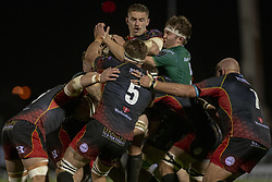 November 3, 2018 - Galway, Ireland - James Cannon of Connacht in action during the Guinness PRO14 match between Connacht Rugby and Dragons at the Sportsground in Galway, Ireland on November 3, 2018  (Credit Image: © Andrew Surma/NurPhoto via ZUMA Press)