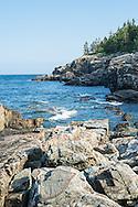 Acadia National Park's rugged rocky coastline.