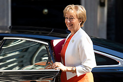 © Licensed to London News Pictures. 15/05/2018. London, UK. Leader of the House of Commons Andrea Leadsom arrives on Downing Street for the Cabinet meeting. Photo credit: Rob Pinney/LNP
