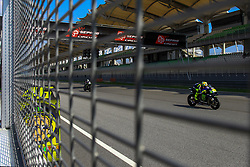 February 8, 2019 - Sepang, SGR, U.S. - SEPANG, SGR - FEBRUARY 08: Valentino Rossi of Monster Energy Yamaha MotoGP  in action during the third and final day of the MotoGP official testing session held at Sepang International Circuit in Sepang, Malaysia. (Photo by Hazrin Yeob Men Shah/Icon Sportswire) (Credit Image: © Hazrin Yeob Men Shah/Icon SMI via ZUMA Press)