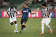 Bari (BA) 21.07.2012 - Trofeo Tim 2012. Inter - Juventus. Nella Foto: Caceres (J) dx, Palacio centro (I) e  Asamoah sx (J)