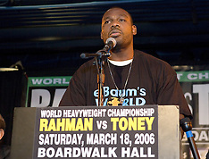 March 14, 2006 - Hasim Rahman vs James Toney Presser - Copacabana, NY, NY