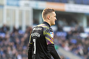 Daniel Iversen (1) during the EFL Sky Bet League 1 match between Peterborough United and Rotherham United at London Road, Peterborough, England on 25 January 2020.