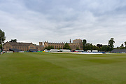 General view of the ground before the Specsavers County Champ Div 2 match between Gloucestershire County Cricket Club and Leicestershire County Cricket Club at the Cheltenham College Ground, Cheltenham, United Kingdom on 15 July 2019.
