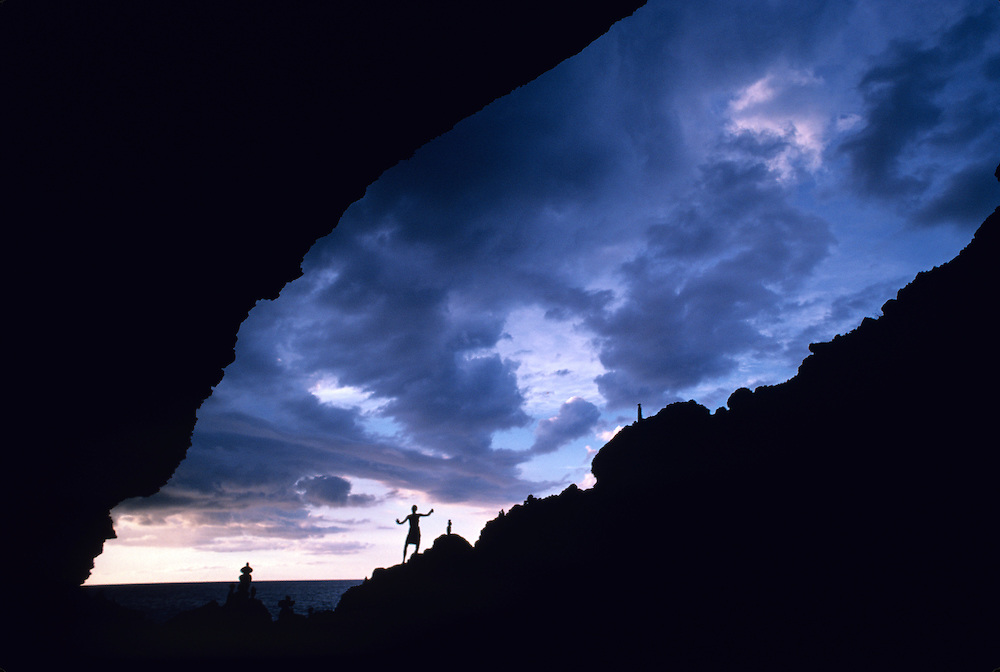 Hawaii, Kauai, Napali, Kalalau, sea cave