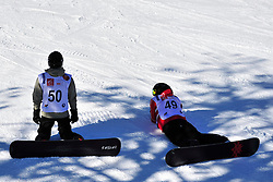 World Cup Banked Slalom, OSHAROV Ivan, UKR, SLEPOV Yevgenyi, BEL at the 2016 IPC Snowboard Europa Cup Finals and World Cup