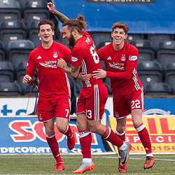 #83 Stevie May (Aberdeen) celebrates - Kilmarnock v Aberdeen - Ladbrokes Premiership - 26 November 2017 - © Russel Hutcheson | SportPix.org.uk
