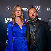 NLD/Amsterdam/20190522 - Uitreiking FHM500 2019, Nicky Opheij en partner DJ La Fuente (Job Smeltzer)
