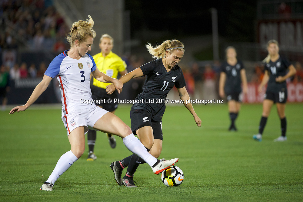 Kirsty Yallop.<br /> Commerce City, Colorado - Friday September 15, 2017:  The USWNT takes on the New Zealand Women's National Football Team at Dick's Sporting Goods Park. Copyright photo: Jamie Schwaberow / ISI / www.photosport.nz