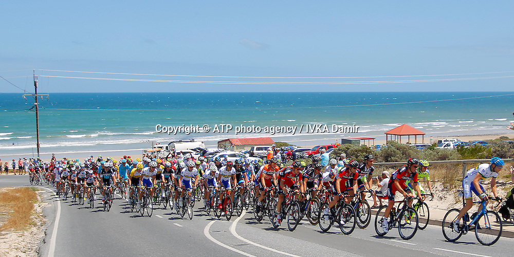 2015 Santos Tour Down Under. Adelaide. Australia. 24.1.2015.  Stage 5. Mc Laren Vale to Willunga Hill.151.5km<br /> lead = 186 VAN DER PLOEG Neil, AUS <br /> - Tour Down Under Australia 2015, Cycling, road race, Radrennen, Australien -  Radsport - Rad Rennen <br /> - fee liable image: copyright &copy; ATP - IVKA Damir