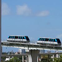 Miami Metro Mover in downtown Miami.