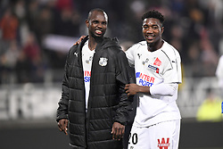 February 23, 2019 - Amiens, France - JOIE - 15 MOUSSA KONATE (AMI) - 20 CHEICK TIMITE  (Credit Image: © Panoramic via ZUMA Press)