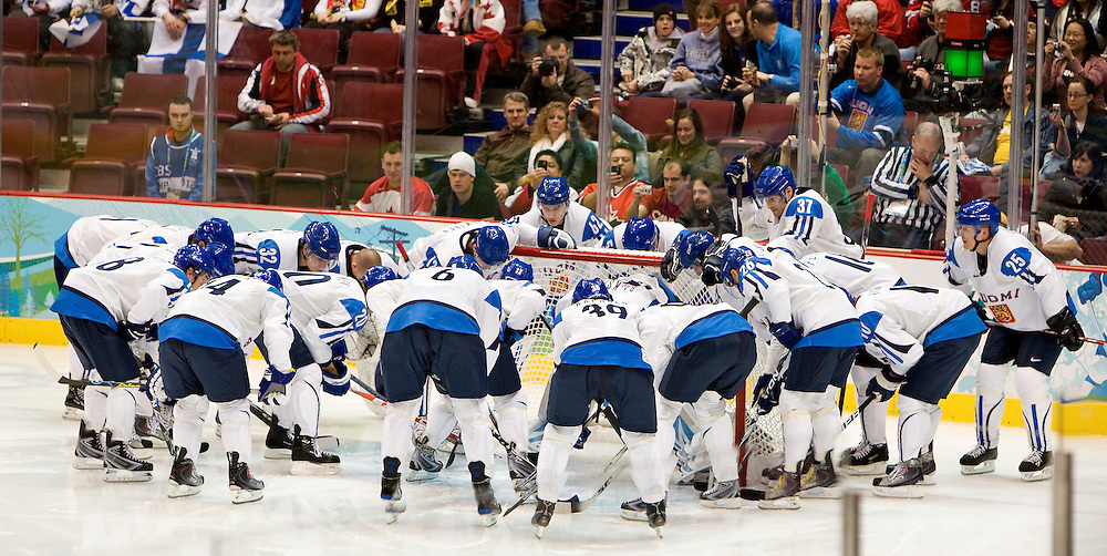 Finland Hockey Team, 2010 Vancouver Winter Olympics