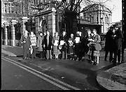 12/12/1978.12/12/1978.12th December 1978.National Association of Widows Protest outside Dail Eireann, Kildare Street.