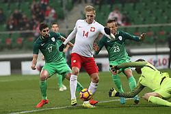 14.11.2016, Stadion Miejski, Wroclaw, POL, Testspiel, Polen vs Slowenien, im Bild LUKASZ TEODORCZYK STRZAL BRAMKA GOL // during the international friendly football match between Poland vs Slovenia at the Stadion Miejski in Wroclaw, Poland on 2016/11/14. EXPA Pictures &copy; 2016, PhotoCredit: EXPA/ Newspix/ Jakub Piasecki<br /> <br /> *****ATTENTION - for AUT, SLO, CRO, SRB, BIH, MAZ, TUR, SUI, SWE, ITA only*****