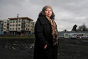 "Karen Gibson, an associate professor of urban studies and planning at Portland State University, is upset that the current wave of development along North Williams Avenue corridor did not occur  when  the area was the heart of Portland's black community. ""Twenty years ago you couldn't get a light fixture repaired,"" Gibson said. ""It's just disgusting."""