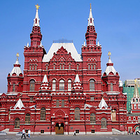 State Historical Museum in Red Square in Moscow, Russia <br />