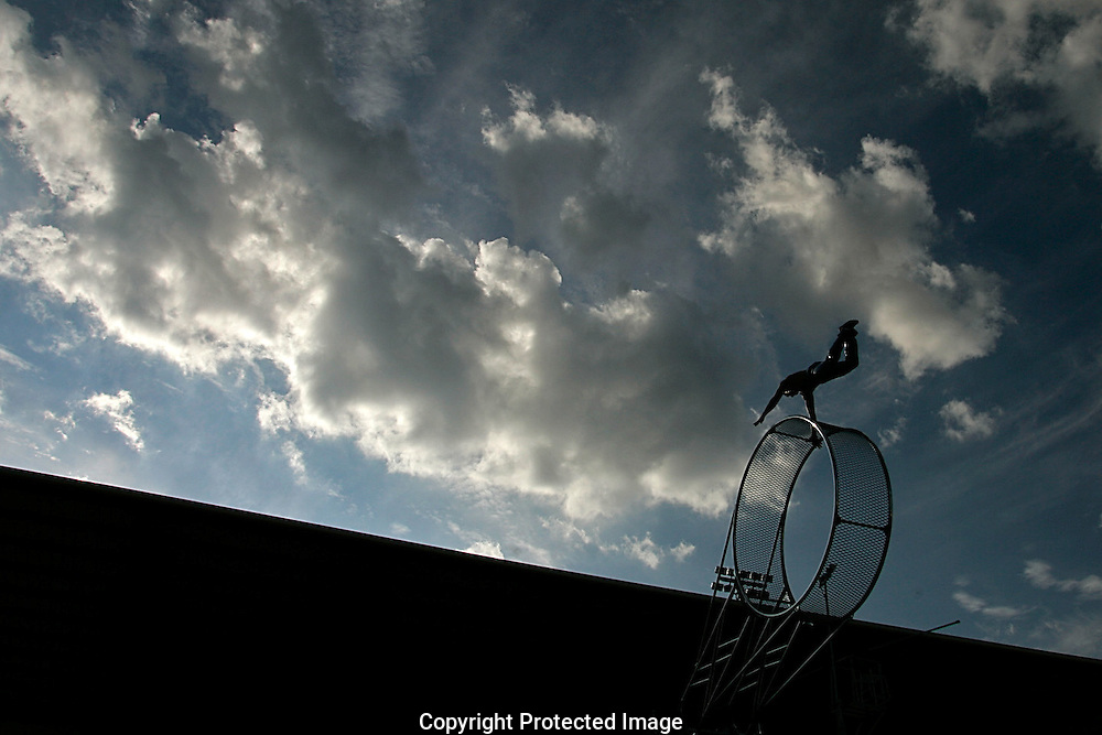 The Jordan World Circus performs at The Mounted Patrol Arena in Clovis, NM on Wednesday, September 13, 2006.