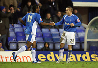 Photo: Rich Eaton.<br /> <br /> Birmingham City v Preston North End. Coca Cola Championship. 09/12/2006. Gary McSheffrey right of Birmingham is congratulated by Cameron Jerome after scoring the first goal of the game